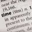 Dictionary Series - Philosophy: time — Stock Photo
