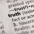Dictionary Series - Philosophy: truth — Stock Photo
