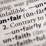 Dictionary Series - Philosophy: unfair — Stock Photo