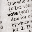 Dictionary Series - Politics: vote — Stock Photo