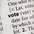 Stock Photo: Dictionary Series - Politics: vote