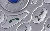 Macro-opname van de mobiele telefoon knoppen — Stockfoto