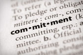 Dictionary Series - Attributes: commitment — Stock Photo