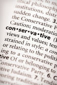 Dictionary Series - Politics: conservative — Stock Photo