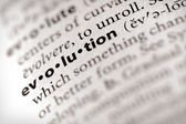 Dictionary Series - Religion: evolution — Stock Photo