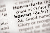 Dictionary Series - Attributes: honor — Stock Photo