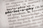 Dictionary Series - Philosophy: philosophy — Stock Photo