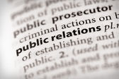 Dictionary Series - Marketing: public relations — Stock Photo