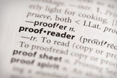 Dictionary Series - Miscellaneous: proofreader — Stock Photo