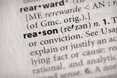Dictionary Series - Philosophy: reason — Stock Photo