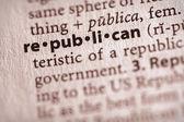 词典系列-政治: 共和党 — 图库照片