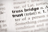 Dictionary Series - Attributes: trust — Stockfoto