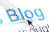 The word 'blog' as a hyperlink — Stock Photo