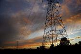 Líneas eléctricas en sunset2 — Foto de Stock