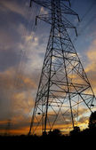 Powerlines at sunset4 — Stock Photo
