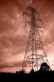 Powerlines at sunset5 — Stock Photo