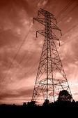 Líneas eléctricas en sunset5 — Foto de Stock