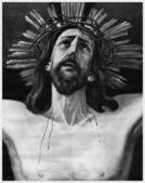 斯的奇迹般的耶稣受难像 — 图库照片