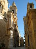 Villegaignon Street in Mdina — Stock Photo