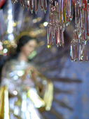 Our Lady And The Crystal Chandelier — Stock Photo