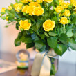 Big bouquet of yellow roses - Stock Photo