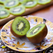 Stock Photo: Sliced kiwi