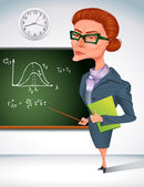 Math teacher — Stock Vector