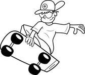 Skateboarder guy — Stock Vector