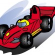 F1 car — Vector de stock #13861991
