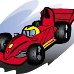 auto F1 — Vettoriale Stock
