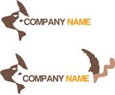 Animal logotype — Stock Vector
