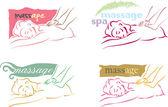Massage logo — Stock Vector