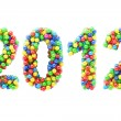 Colorful 2012 numbers on white — Stock Photo #11592282