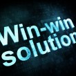Business concept: pixelated words Winwin solution on digital scr - Stock Photo