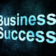 Business concept: pixelated words Business Success on digital sc - Foto Stock