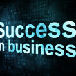 Business concept: pixelated words Success in business on digital - Foto Stock