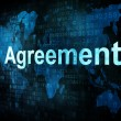 Business concept: pixelated words Agreement on digital screen - ストック写真