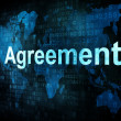 Business concept: pixelated words Agreement on digital screen — Stock Photo