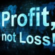 Business concept: pixelated words Profit not Loss on digital scr - Foto Stock