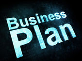 Business concept: pixelated words Business Plan — Stock Photo