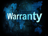 Information technology IT concept: pixelated words Warranty on d — Stock Photo