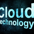 Information technology IT concept: pixelated words Cloud technol - Foto Stock