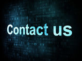 Information technology IT concept: pixelated words Contact us on — Stockfoto