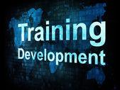 Job, work concept: pixelated words Training Development on digit — Stock Photo