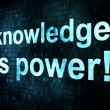 Education and learn concept: pixelated words knowledge is power — Foto de Stock