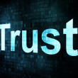 Stock Photo: Life style concept: pixelated words Trust on digital screen