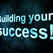 Stock Photo: Life style concept: pixelated words Building your success on dig
