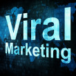 Marketing concept: pixelated words Viral Marketing on digital sc — 图库照片