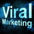 Marketing concept: pixelated words Viral Marketing on digital sc — Stock Photo