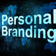 Marketing concept: pixelated words Personal Branding on digital - Stock Photo